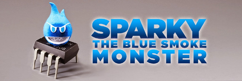 Sparky the Blue Smoke Monster on 555