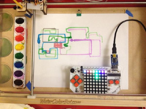 Meggy Jr RGB controlling WaterColorBot