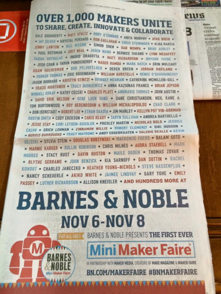 Barnes & Noble ad in NYT listing participating authors