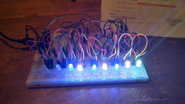 LEDs in breadboard