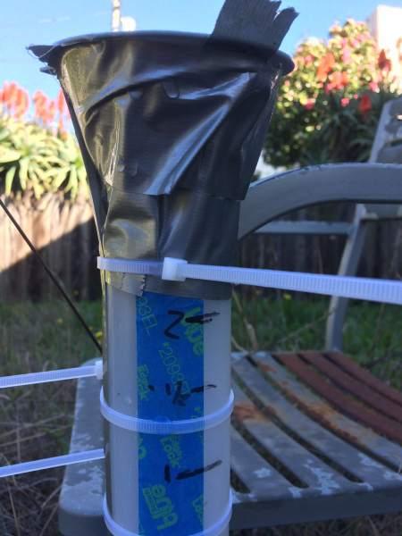 DIY rain gauge