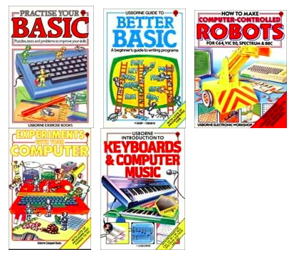Vintage Usborne Computing Book Covers