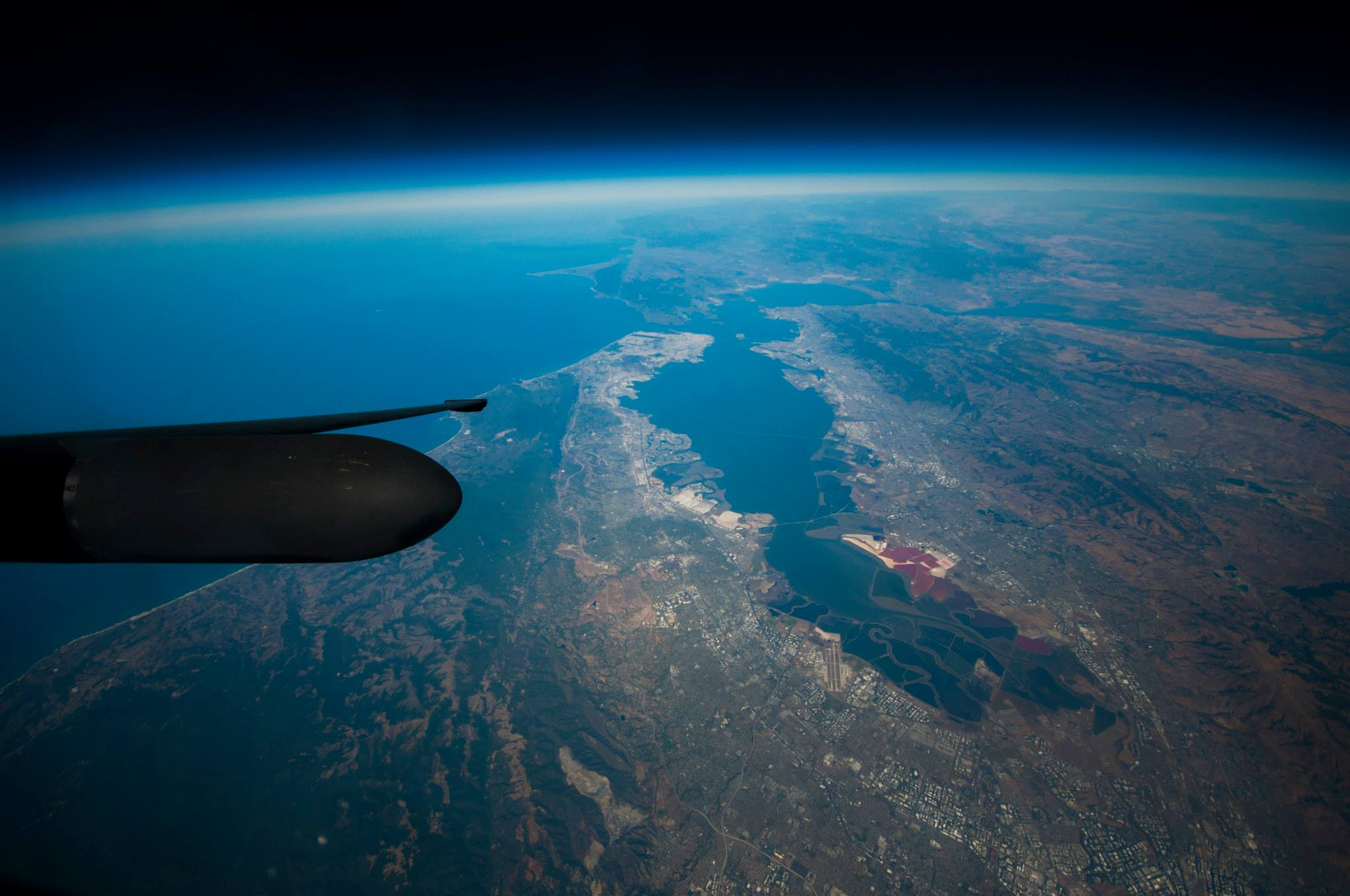 San Jose and San Francisco and the Bay photographed from a U-2
