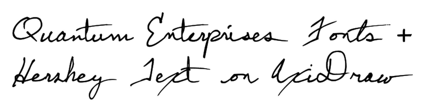Stroke fonts from Quantum Enterprises   Evil Mad Scientist