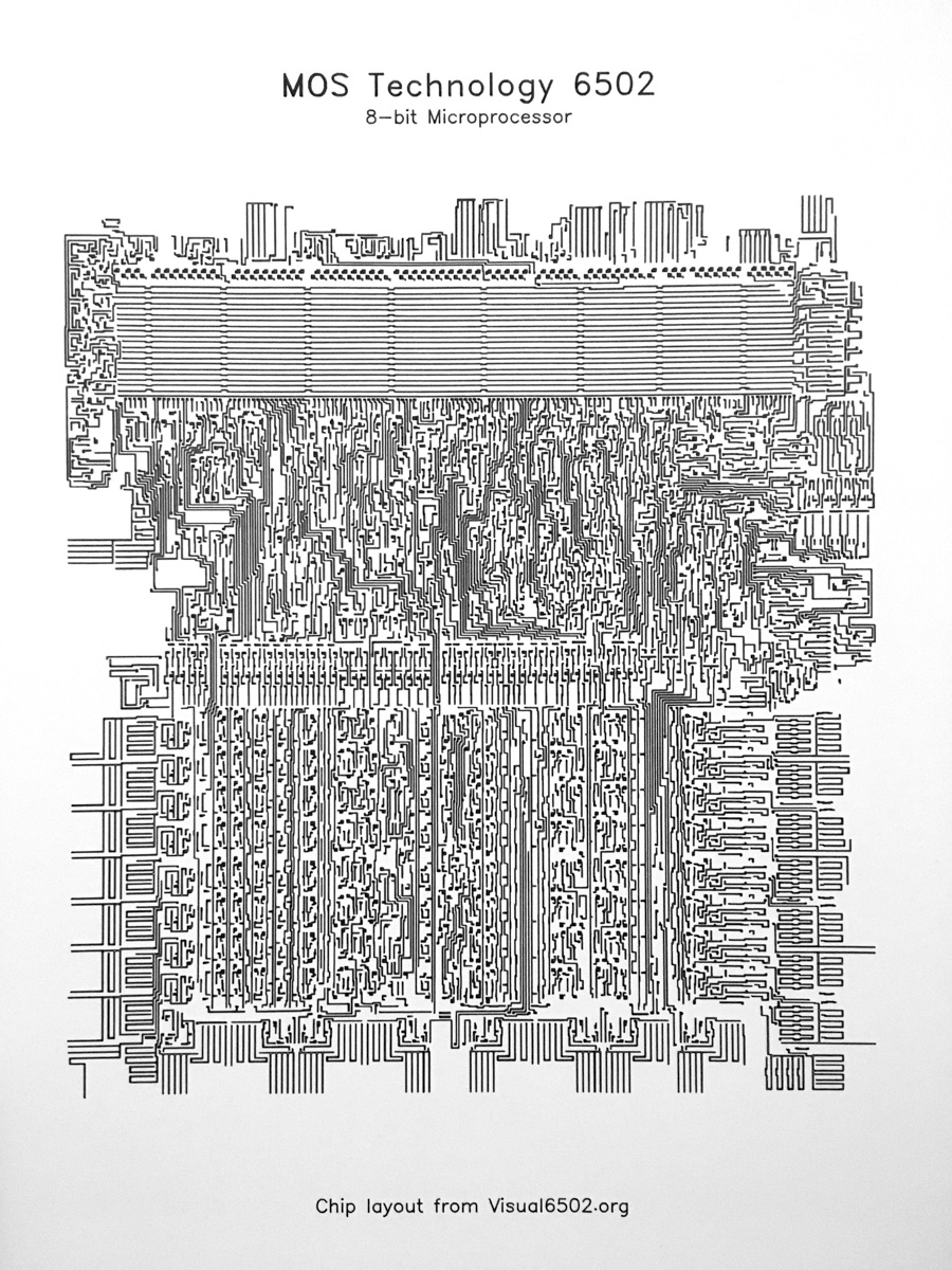 MOS 6502 processor drawing