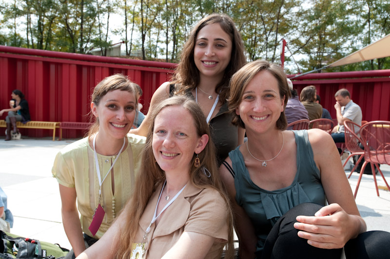 Alicia Gibb, Ayah Bdeir, Kate Hartmann, Lenore Edman at OHS 2011