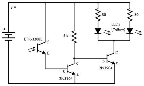 a dark detecting circuit for your jack
