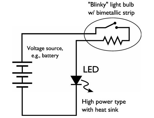 Fabulous Easy High Power Led Blinking Circuit Evil Mad Scientist Laboratories Wiring Cloud Xeiraioscosaoduqqnet